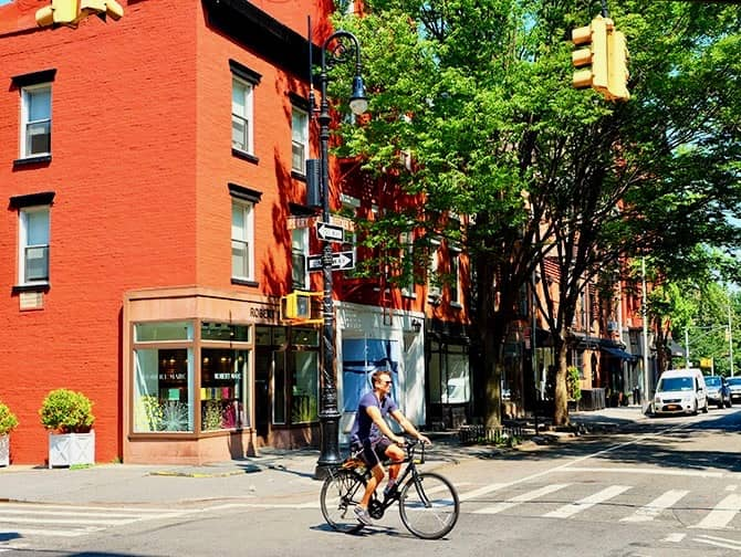 West Village New Yorkissa - Perry Street ja Bleecker Street