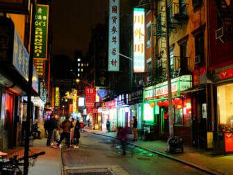 Chinatown New Yorkissa - rakennuksia