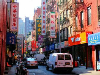 Chinatown New Yorkissa - tyypillinen rakennus