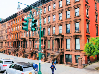 Harlem New York - Brownstone-taloja