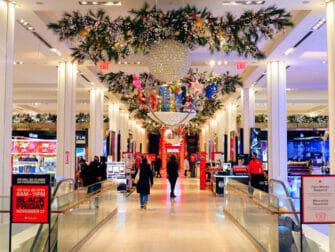 Macy's-tavaratalo New York - joulukoristeita