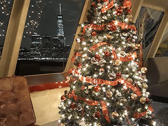 Jouluaaton illallisristeilyt New Yorkissa - Joulukuusi