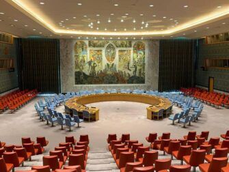 YK:n päämaja New Yorkissa - Turvallisuusneuvoston istuntosali