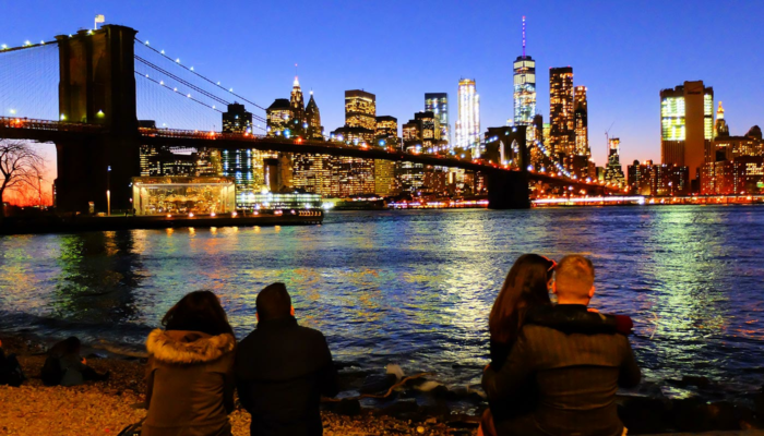 Brooklynin silta New Yorkissa - Skyline