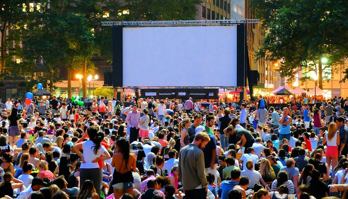 Ilmaisia elokuvia Bryant Parkissa - elokuvailta
