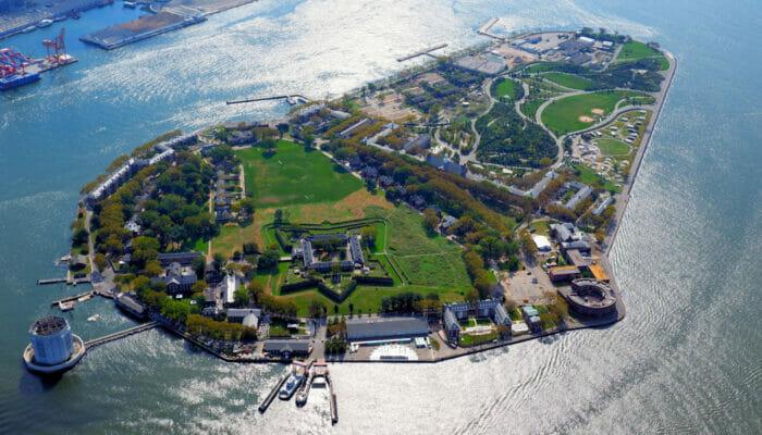 Governors Island New York - ilmakuva
