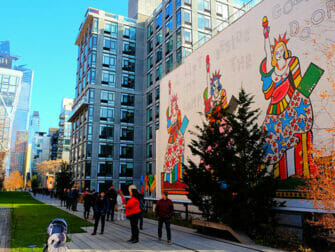 High Line Park New Yorkissa - Muraali