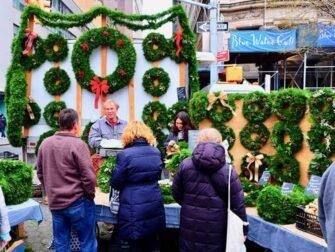 Torit New Yorkissa - Joulukransseja Union Squarella