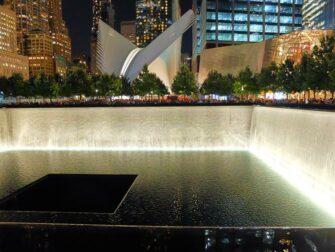 9/11 Memorial Ground Zerolla New Yorkissa - ilta