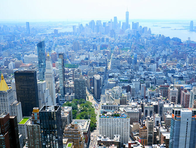 Empire State Building liput - Näkymä Downtown Manhattanille