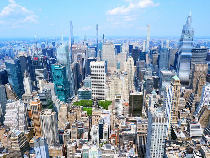 Empire State Building liput - Näkymä Uptown Manhattanille