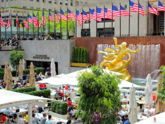Rockefeller Center New Yorkissa - Terassi