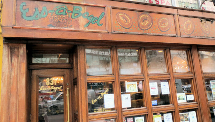 Parhaat kahvilat ja bagelit New Yorkissa - Ess a Bagel New Yorkissa