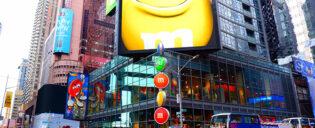 M&M's kauppa Times Squarella
