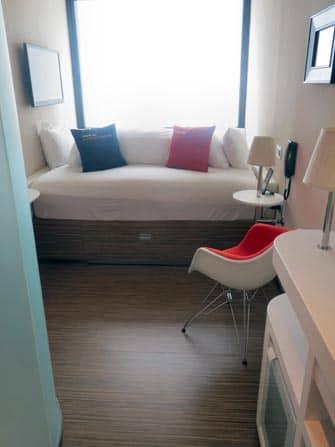 CitizenM-hotelli New Yorkissa - hotellihuone sisalta