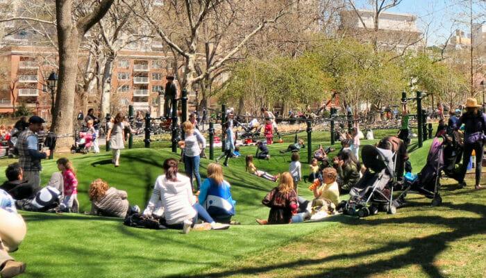 Washington Square  leikkipuisto New Yorkissa