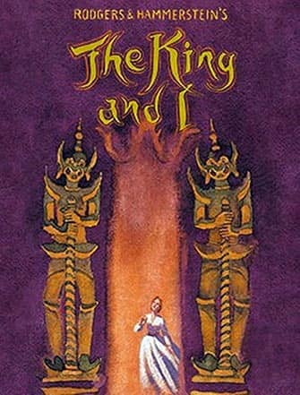 King and I Broadway-musikaali - juliste
