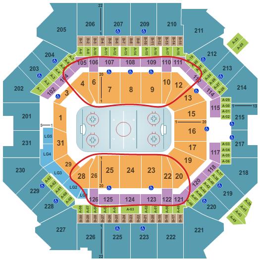 New York Islanders -liput - Barclays Center Katsomokartta