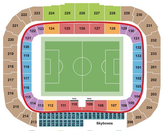 New York Red Bulls -liput - Red Bull Arena katsomokartta