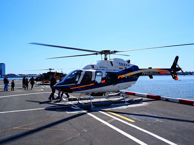 Helikopterilentojen reitit New Yorkissa