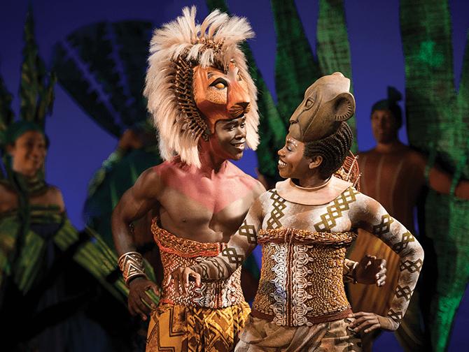 Lion King Broadway-liput - Simba ja Nala