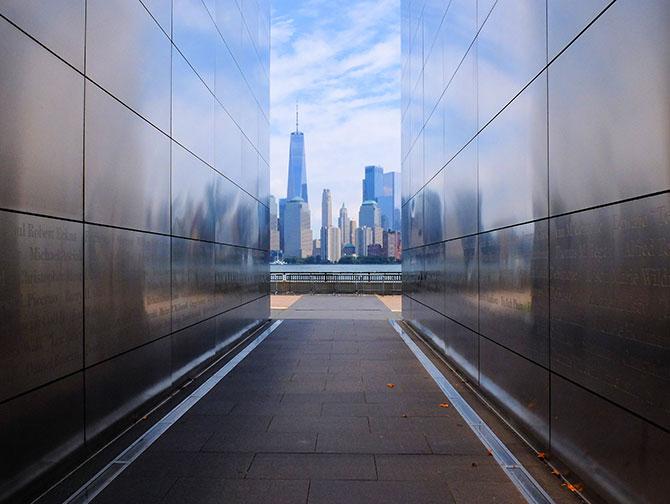 Empty Sky Memorial New Jerseyssä - Skyline-näkymä