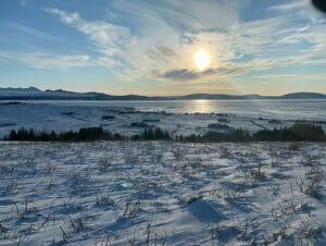 Valilasku Islannissa matkalla New Yorkiin