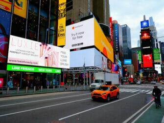Glee-kierros New Yorkissa - Times Square