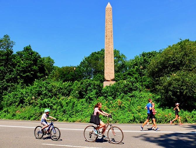 Pyörän vuokraus New Yorkissa - Pyöräilijöitä
