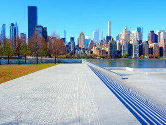 Roosevelt Island New Yorkissa - muistomerkki