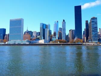 Roosevelt Island New Yorkissa - siluetti