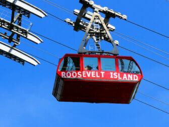 Roosevelt Island New Yorkissa - vaijerihissi