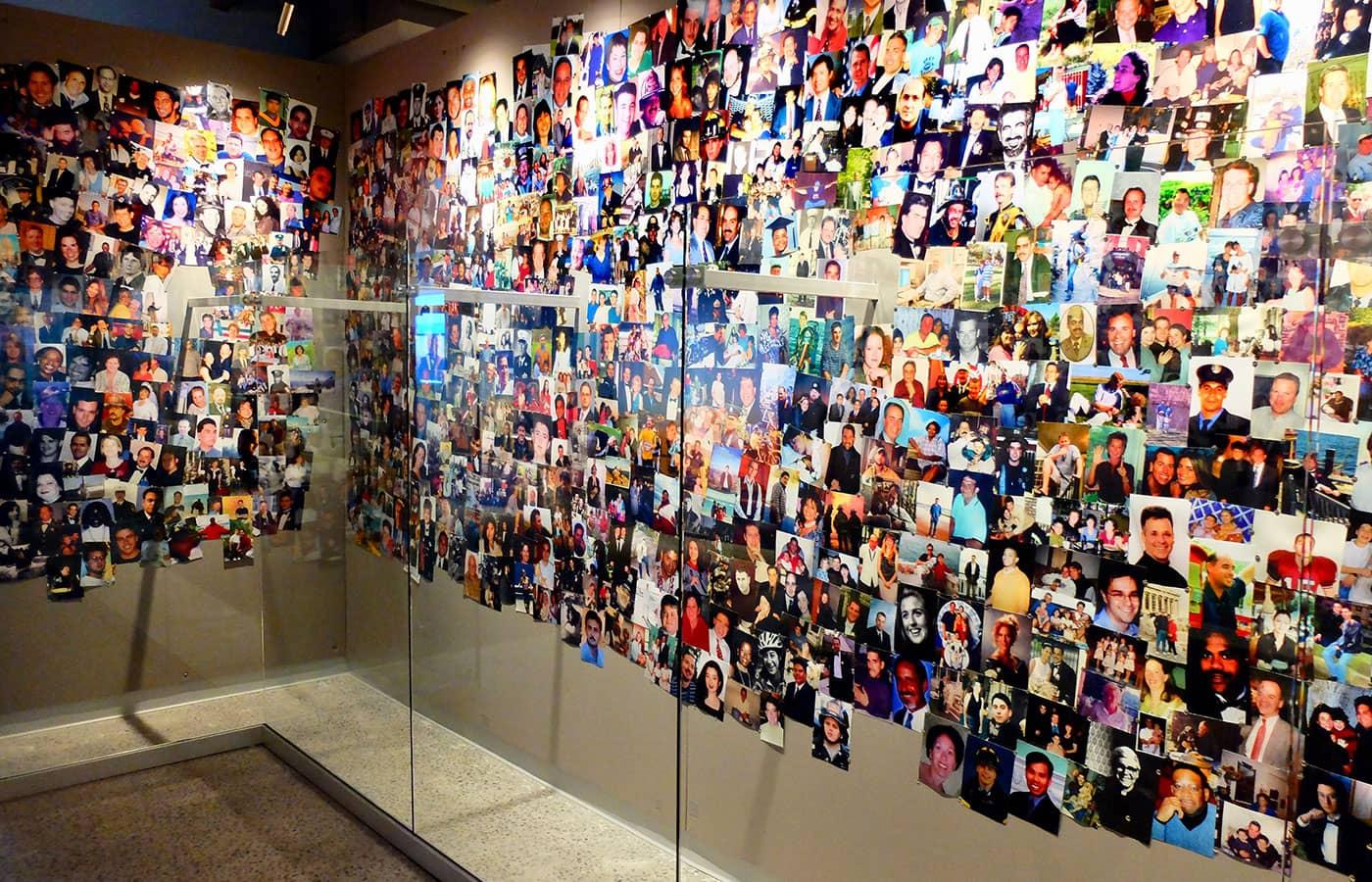 9/11 Tribute Museum New Yorkissa - Valokuvaseinä