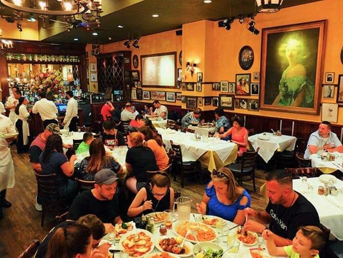 Perheravintola Carmine's New Yorkissa - Illallisella