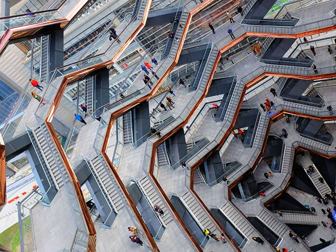 Hudson Yards Vessel New Yorkissa - Vessel rakennelma