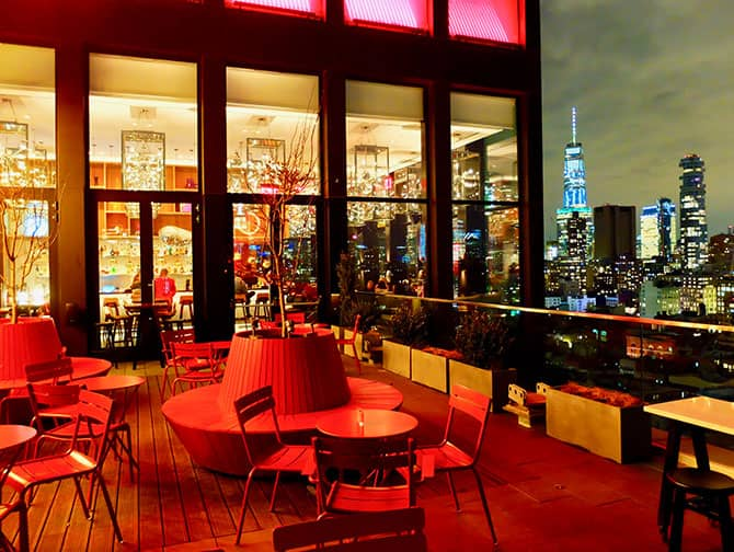citizenM New York Bowery Hotel - Kattoterassi
