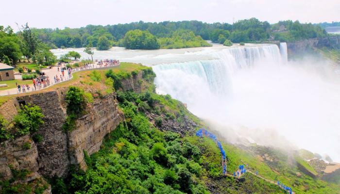 New Yorkista Niagaran putouksille päivämatka bussilla - Näkymät näköalatasanteelta