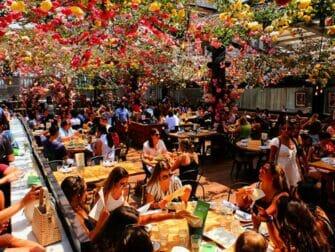 Ravintolat New Yorkissa - Birreria kattoterassi