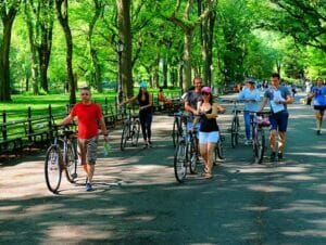 Pyöräretki New Yorkissa sähköpyörällä