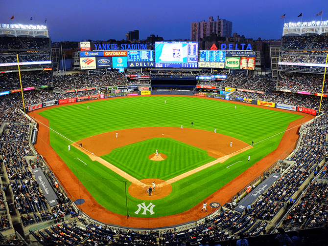 Otteluohjelma urheilu New Yorkissa - NY Yankees