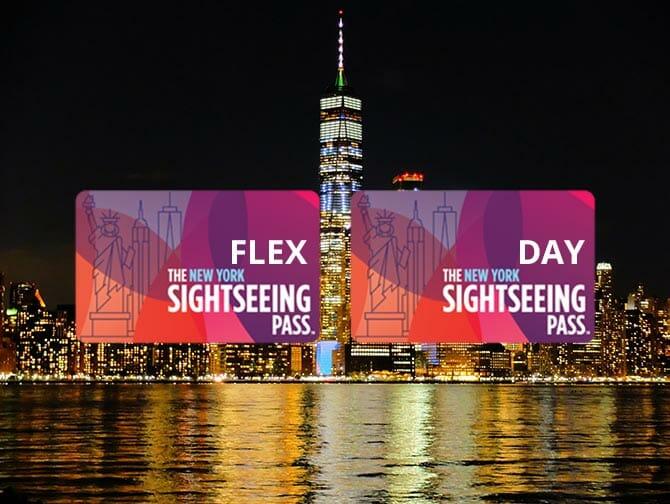 New York Sightseeing Flex Pass ja Sightseeing Day Pass -kaupunkipassien erot