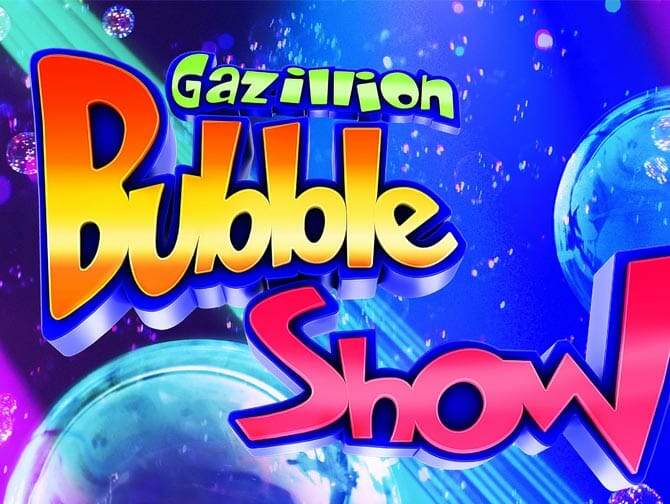 Gazillion Bubble Show Broadway-liput