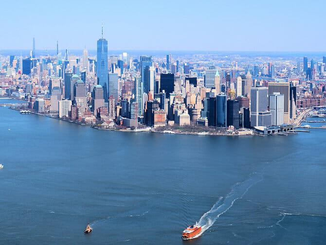 Edulliset helikopterilennot New Yorkin yllä