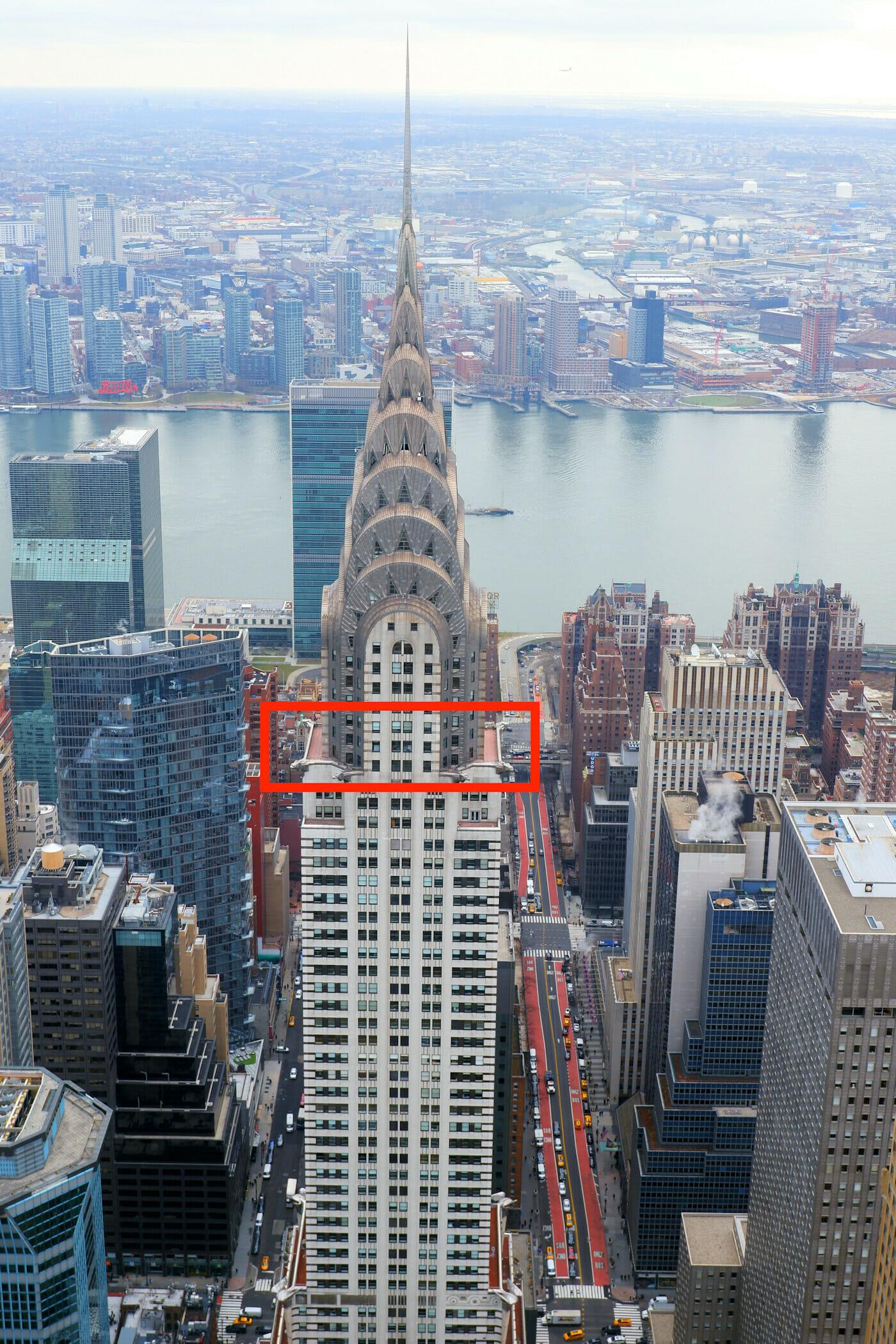 Chrysler Building Observation Deck -liput - Sijainti