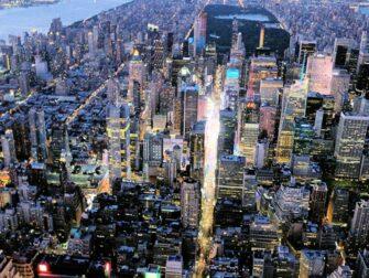 Yhdistetty ilta helikopterilento ja risteily New Yorkissa - Times Square