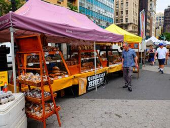 Ympäristöystävällinen matka New Yorkiin - Leipää Union Square Greenmarketilla