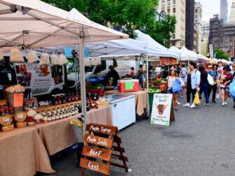 Ympäristöystävällinen matka New Yorkiin - Union Square Greenmarket