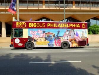 Alennuspassit Philadelphian nähtävyyksille - Hop on Hop off -bussi