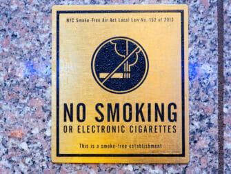 Tupakointi New Yorkissa