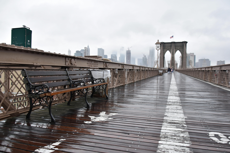 Brooklyn Bridge in the Rain High Quality Wallpaper